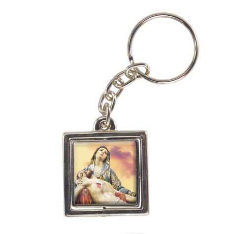 Chaveiro Quadrado Giratório Nossa Senhora da Piedade - Modelo 1
