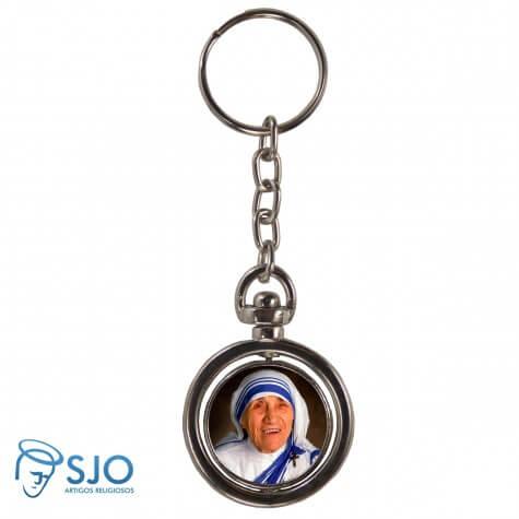 Chaveiro Redondo Giratório - Santa Madre Teresa de Calcutá