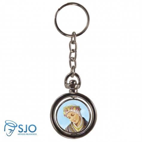Chaveiro Redondo Giratório - Nossa Senhora de Salete
