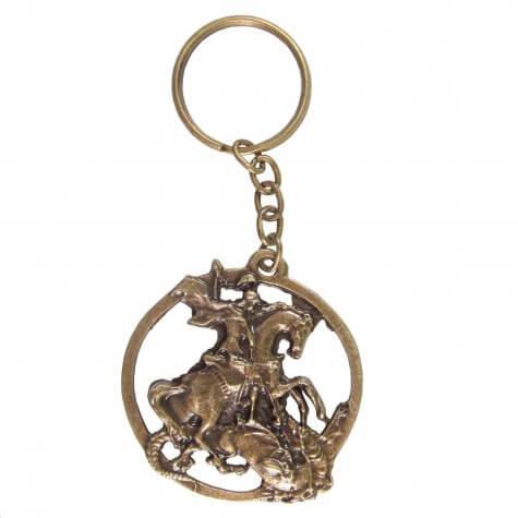 Chaveiro São Jorge de Bronze