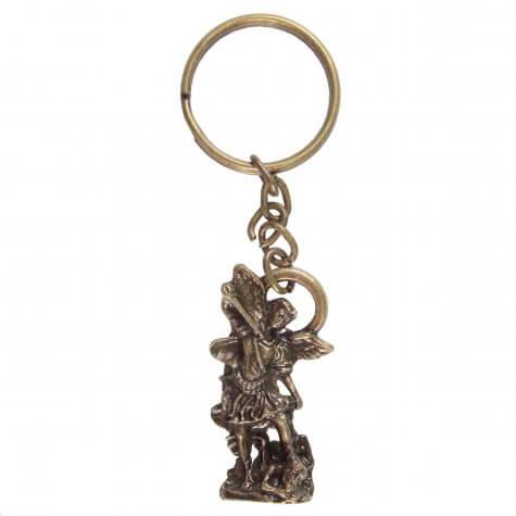 Chaveiro São Miguel Arcanjo de Bronze