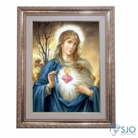 Quadro - Sagrado Coração de Maria - Modelo 1 - 52 cm x 42 cm