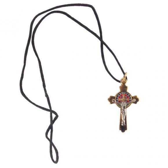 Cordão Cruz de São Bento com Embalagem de Veludo