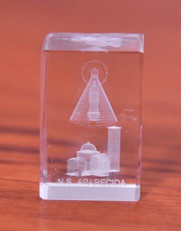 Cristal de Nossa Senhora Aparecida - 2,5 cm