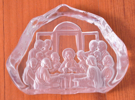 Santa Ceia de Cristal - 7 cm