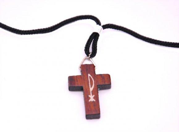 Cordão com Crucifixo Chi Rho (PX)