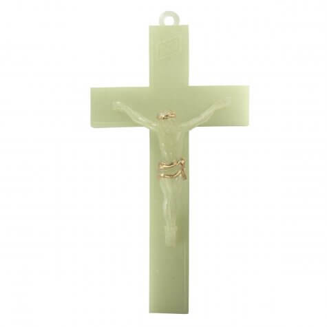 Crucifixo de Parede Luminoso com Cristo - 15 cm
