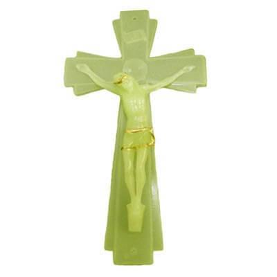 Crucifixo de Parede Luminoso com Cristo - 20 cm