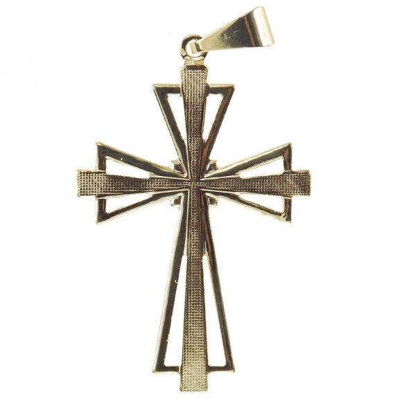 Crucifixo Folheado a Ouro Vazado