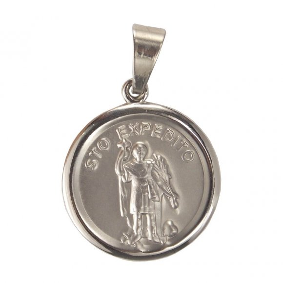 Medalha Redonda de Inox do Santo Expedito