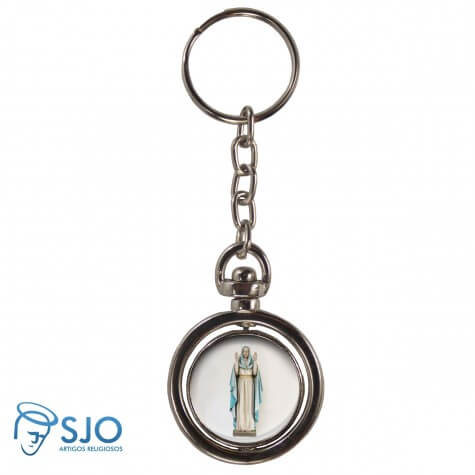 Chaveiro Redondo Giratório - Nossa Senhora do Equilíbrio