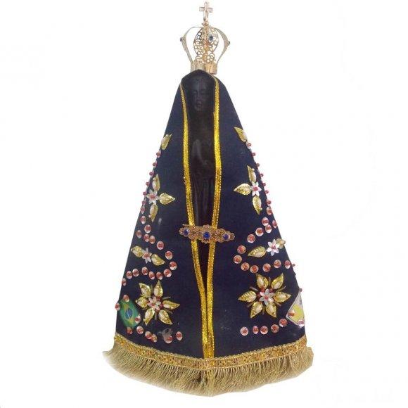 Imagem de Nossa Senhora Aparecida com Manto Bordado - 17 cm