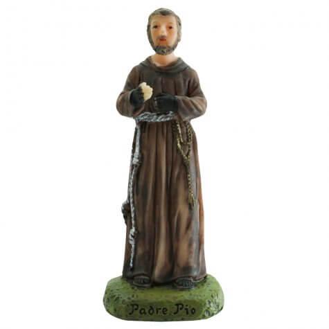 Imagem de Resina Padre Pio - 9 cm