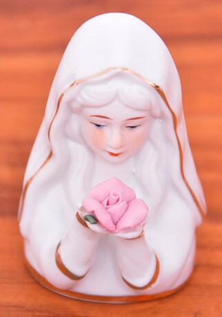 Imagem Madona Branca - 7 cm