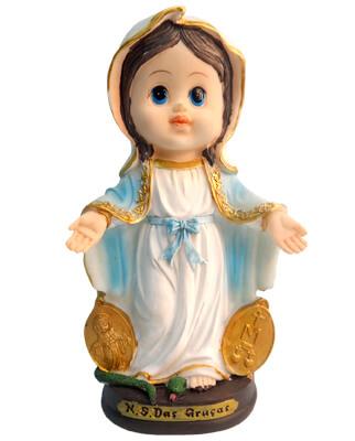 Imagem Infantil de Nossa Senhora das Graças - 15 cm