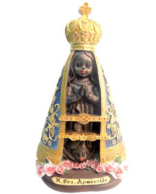 Imagem Infantil de Nossa Senhora de Aparecida - 10 cm
