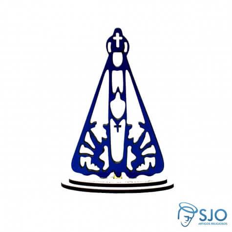 Nossa Senhora Aparecida em Madeira Azul -12 cm