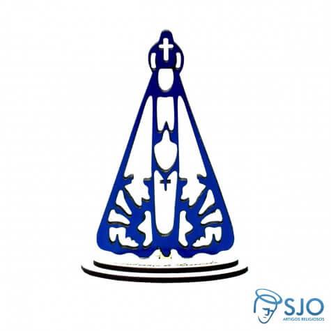 Nossa Senhora Aparecida em Madeira Azul - 22 cm
