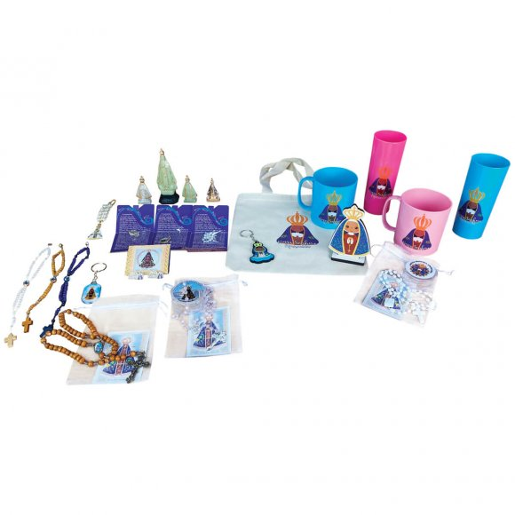 Kit Nossa Senhora Aparecida - 63 produtos diversos