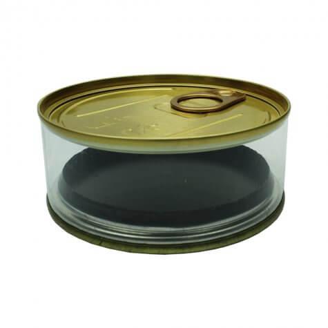 Lata Plástica com Abridor | Cor: Prata