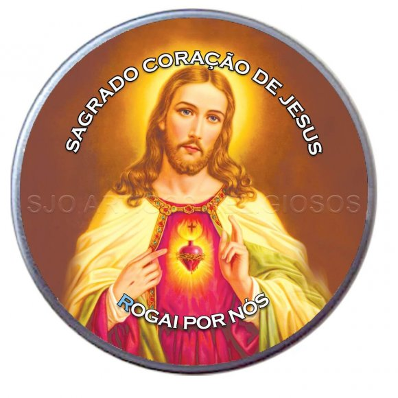 Latinha do Sagrado Coração de Jesus - Mod. 02