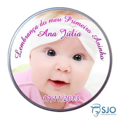 Latinha de Aniversário do Meu Primeiro Aninho - Menina