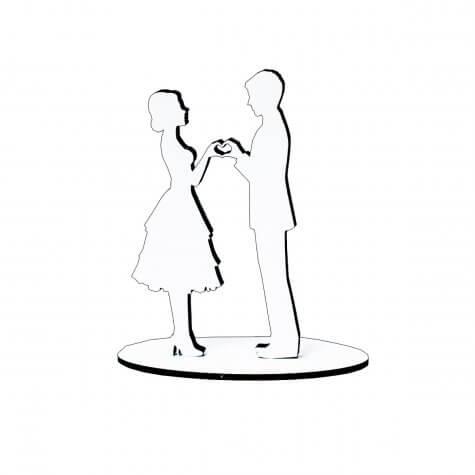 Lembrancinha de Casamento Noivos em MDF 06