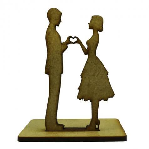 Lembrancinha de Casamento Noivos em MDF - Mod. 10