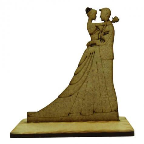 Lembrancinha de Casamento Noivos em MDF - Mod. 13