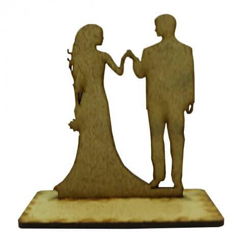 Lembrancinha de Casamento Noivos em MDF - Mod. 22