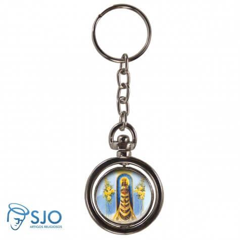 Chaveiro Redondo Giratório - Nossa Senhora do Loreto