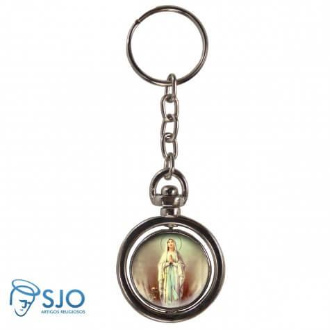Chaveiro Redondo Giratório - Nossa Senhora de Lourdes