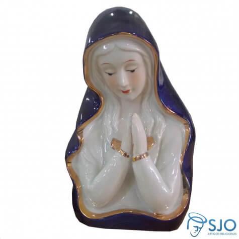 Madona Pequena Azul Escura Rezando - 11 cm