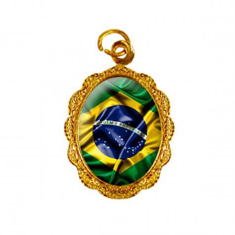Medalha de Alumínio Bandeira Brasil - Modelo 1