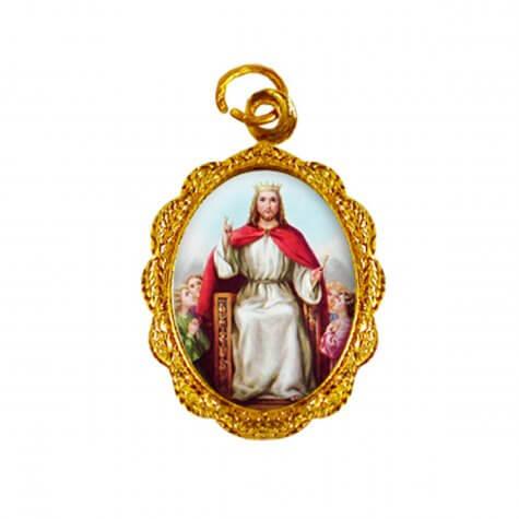 Medalha de alumínio - Cristo Rei - Mod. 01