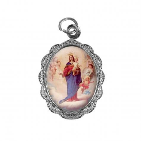 Medalha de alumínio - Nossa Senhora Auxiliadora - Mod. 2