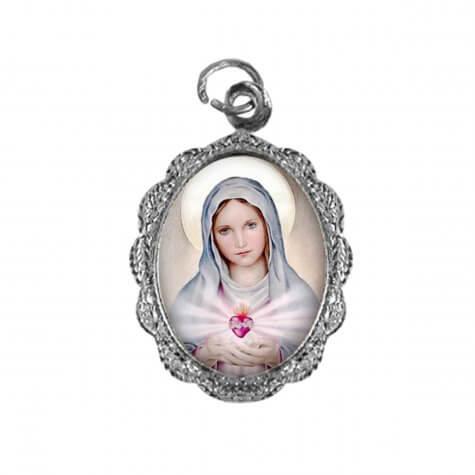 Medalha de alumínio - Nossa Senhora da Chama de Amor