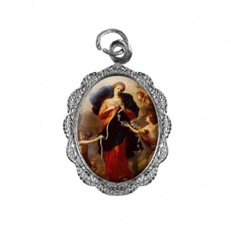 Medalha de alumínio - Nossa Senhora Desatadora dos Nós