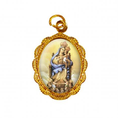 Medalha de alumínio - Nossa Senhora do Monte Serrat