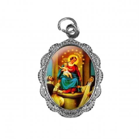 Medalha de alumínio - Nossa Senhora do Rosário