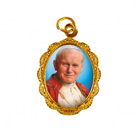 Medalha de Alumínio - Papa João Paulo II - Modelo 02
