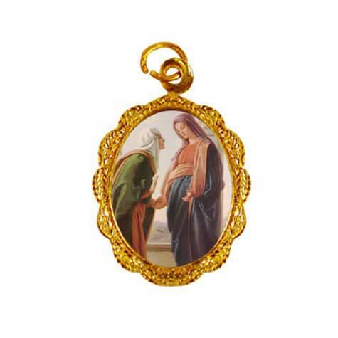 Medalha de Alumínio - Santa Isabel e Maria