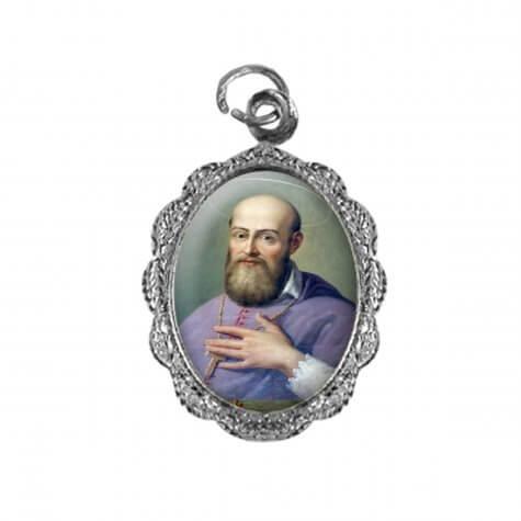 Medalha de Alumínio São Francisco de Sales - Mod. 02