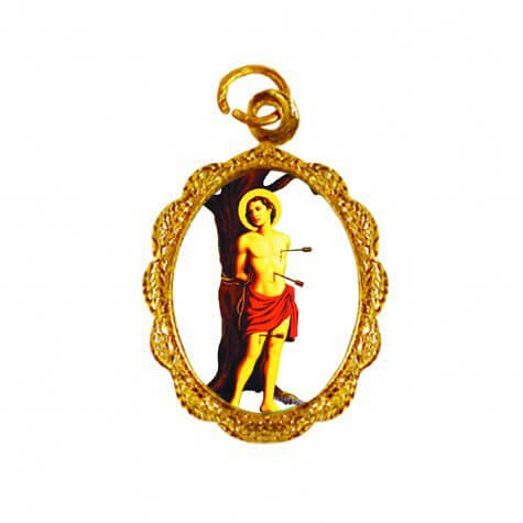 Medalha de Alumínio - São Sebastião - Mod. 02