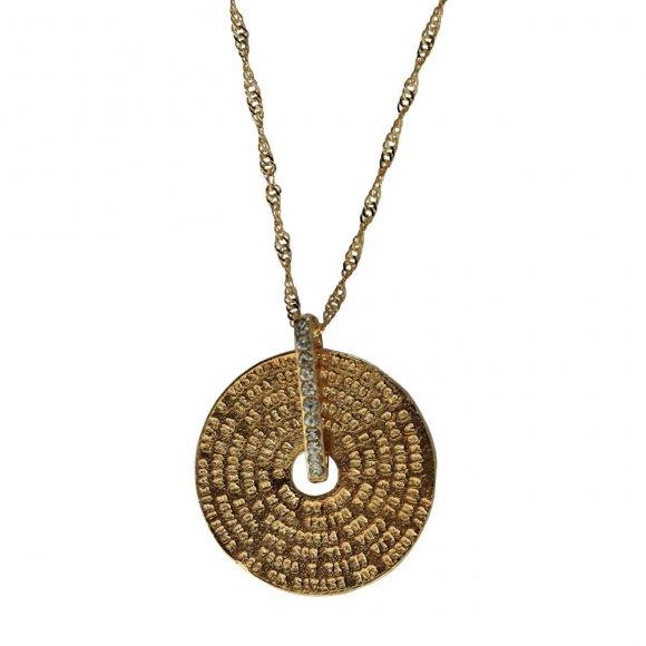 Medalha Folheada a Ouro Oração - 30 cm