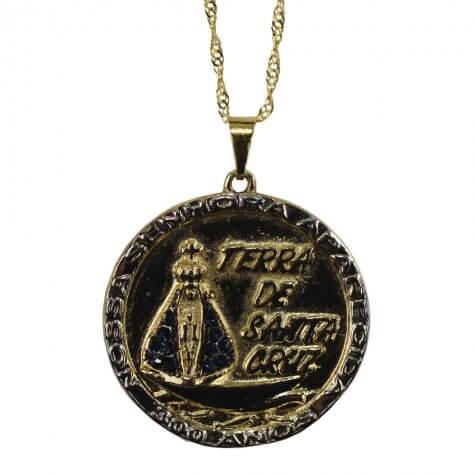 Colar Medalhão 300 Anos Aparecida