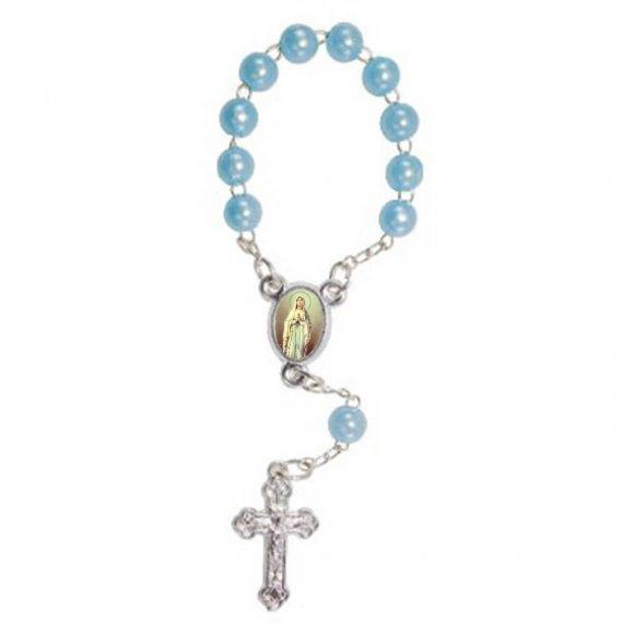 Mini Terço com Foto Nossa Senhora de Lourdes