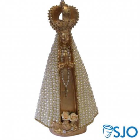 Nossa Senhora Aparecida Dourada em Pérola - 30 cm