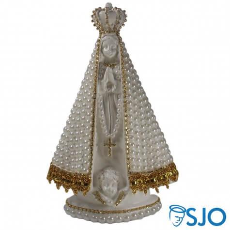Nossa Senhora Aparecida em Pérola Branca - 25 cm