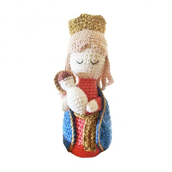 Boneco de Crochê - Nossa Senhora Auxiliadora